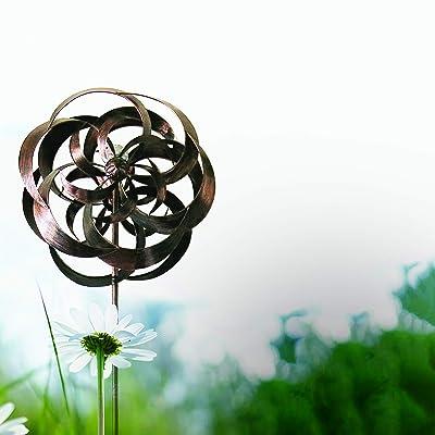 Headwind Garden Splendor 830-1503 Double Whirlwind Wind Spinner with Solar LED Globe Light : Garden & Outdoor