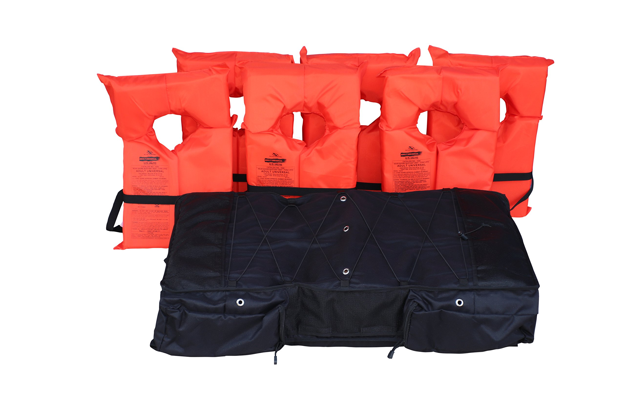 FISHMASTER MARINE TOWERS AND ACCESSORIES Boat Storage Bag for T-Tops and Bimini Tops stores 6 Type II PFD Lifejackets