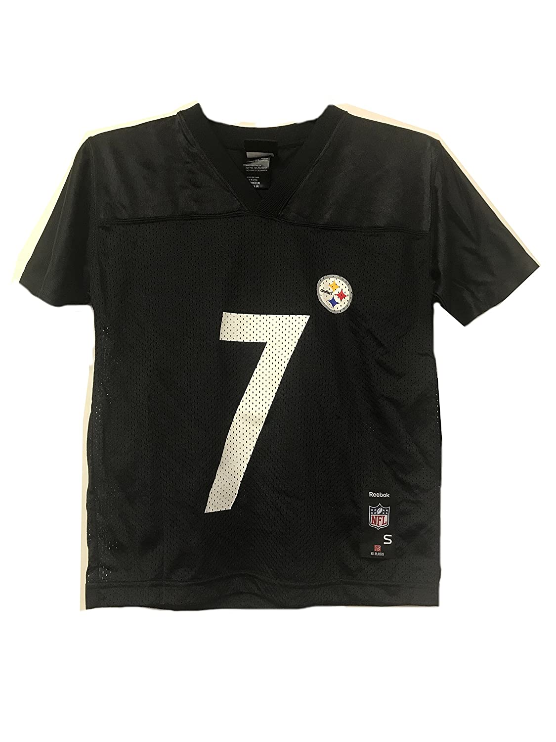 f69a71bcc Amazon.com  Ben Roethlisberger Pittsburgh Steelers NFL Youth Black Home Mid- Tier Mesh Jersey  Clothing