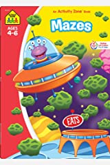 School Zone - Mazes Workbook - 64 Pages, Ages 4 to 6, Preschool, Kindergarten, Maze Puzzles, Wide Paths, Colorful Pictures, Problem-Solving, and More ... Workbook Series) (Deluxe Edition 64-Page) Perfect Paperback