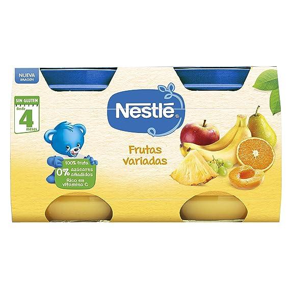 Nestlé Naturnes Alimento infantil, postre de frutas variadas - Paquete de 2 x 130 gr