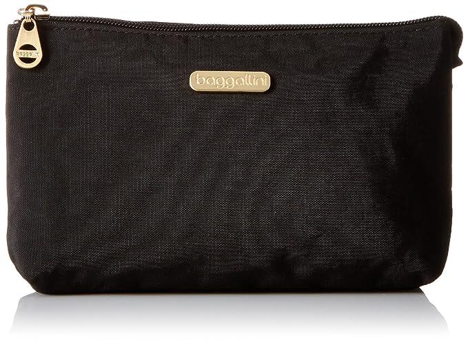 871e6b4076df Amazon.com  Baggallini Gold International Rome Case BLK Cosmetic Bag ...