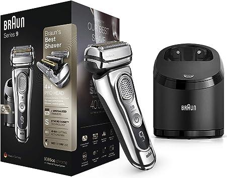 Braun Series 9 9395cc Afeitadora Eléctrica Hombre Última Generación: Afeitadora Barba con Estación Limpieza y Carga Clean&Charge, Funda de Piel, Cromo: Amazon.es: Salud y cuidado personal