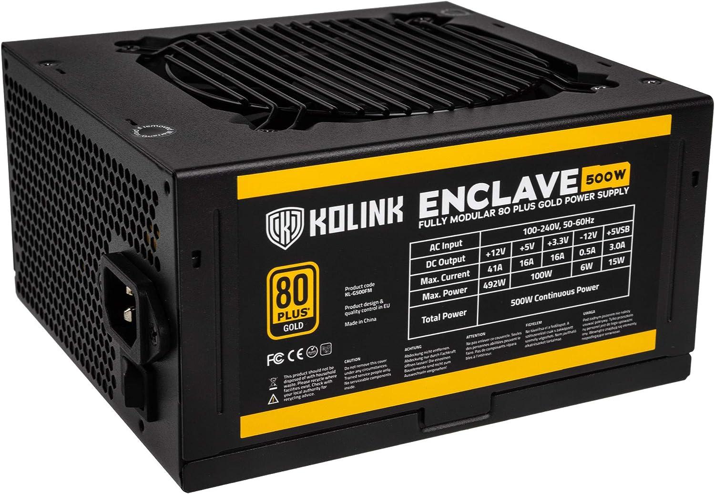 Kolink Enclave 80 Plus Gold Psu Pc Netzteil 500 Watt Computer Zubehör