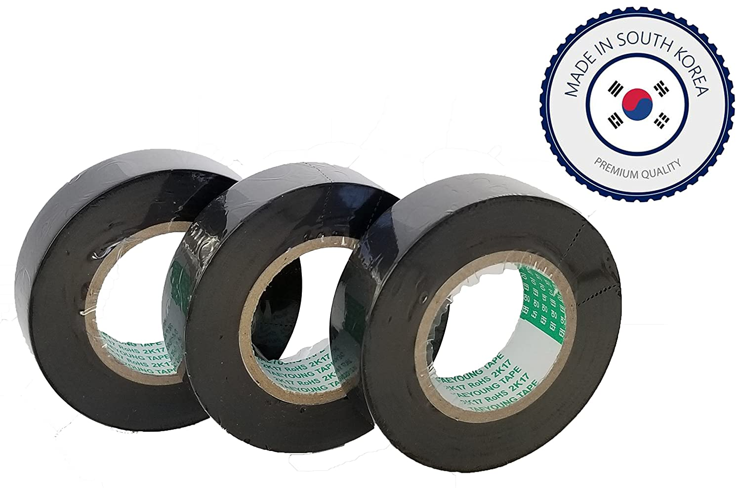"Amazon.com: TAEYOUNG GM/FORD PART-PVC TAPE <3 ROLLS of 3/4"" x 82ft roll>  (19MM x 25M,Wire Harness Adhesive,PVC,BLACK): Automotive"