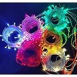 ascension Set of Plastic LED String Strip Decoration Lights (13 m, Random Colour)