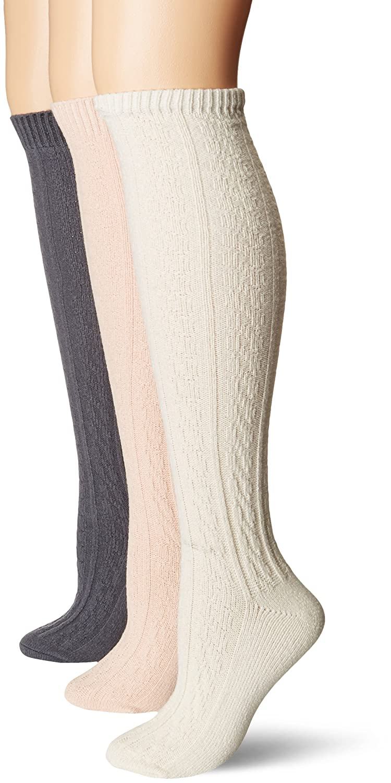 942d0259ae7 Muk Luks Women s 18   Original Cable Knee High Socks at Amazon Women s  Clothing store