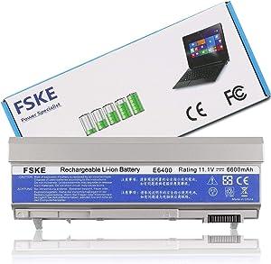 FSKE Battery for Dell Latitude E6410 E6400 E6510 E6500 Precision M2400 M4500 M4400 PT434 Notebook,11.1v 6600mah 9 Cells