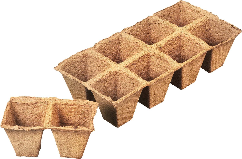 Connex FLOR79125 - Maceta Biodegradable para Invernadero: Amazon ...