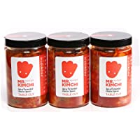 3 X 330g Freshly UK- made Kimchi based on Authentic Korean Recipe (Natural Fermentation, Natural Probiotics, No Artificial Additives)