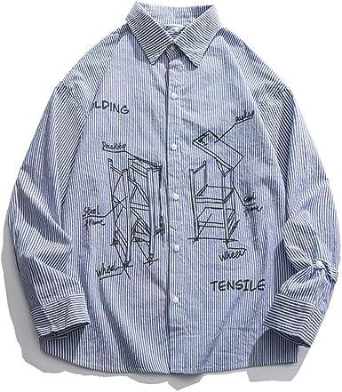 Camisa Simple para Hombre de Gran tamaño, Estilo japonés ...