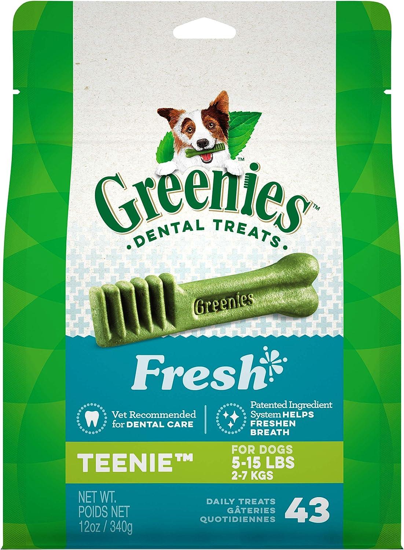 GREENIES Fresh Natural Dental Dog Treats, 12oz Pack