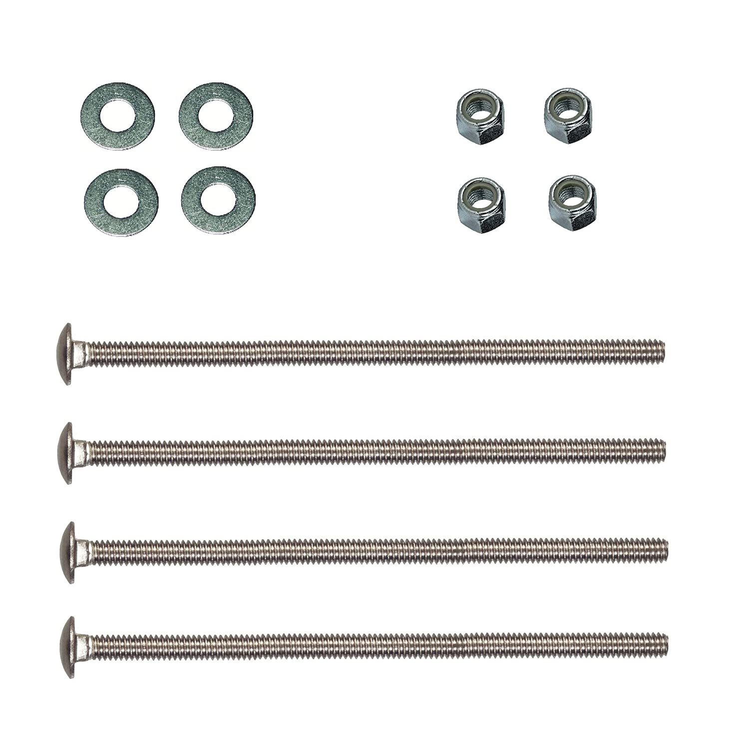 BMB Universal Headboard Nuts and Bolts 4 or 6 Carriage Bolts with Washers and Lock Nuts 2-1//2 1//4-20 X 2-1//2 3-1//2