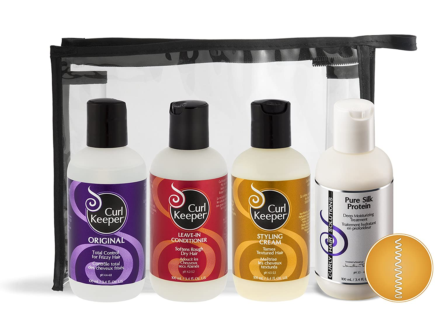 Curl Keeper® - Kinky Curl Travel Kit (4 x 3.38oz) Curly Hair Solutions®