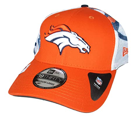 Image Unavailable. Image not available for. Color  Denver Broncos New Era  Mesh Back Medium Large Flex Fit Hat Cap ... 0f9a9bc1413c