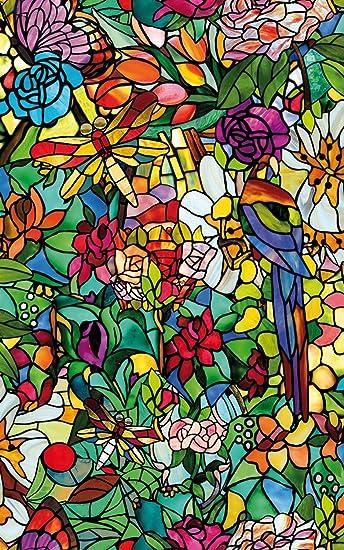 DC Fix Spring Kapelle Fenster Tapete U2013 Set Von 2, Vinyl, Colored, 4