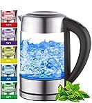 Glas Wasserkocher mit Temperatureinstellung, WirHD