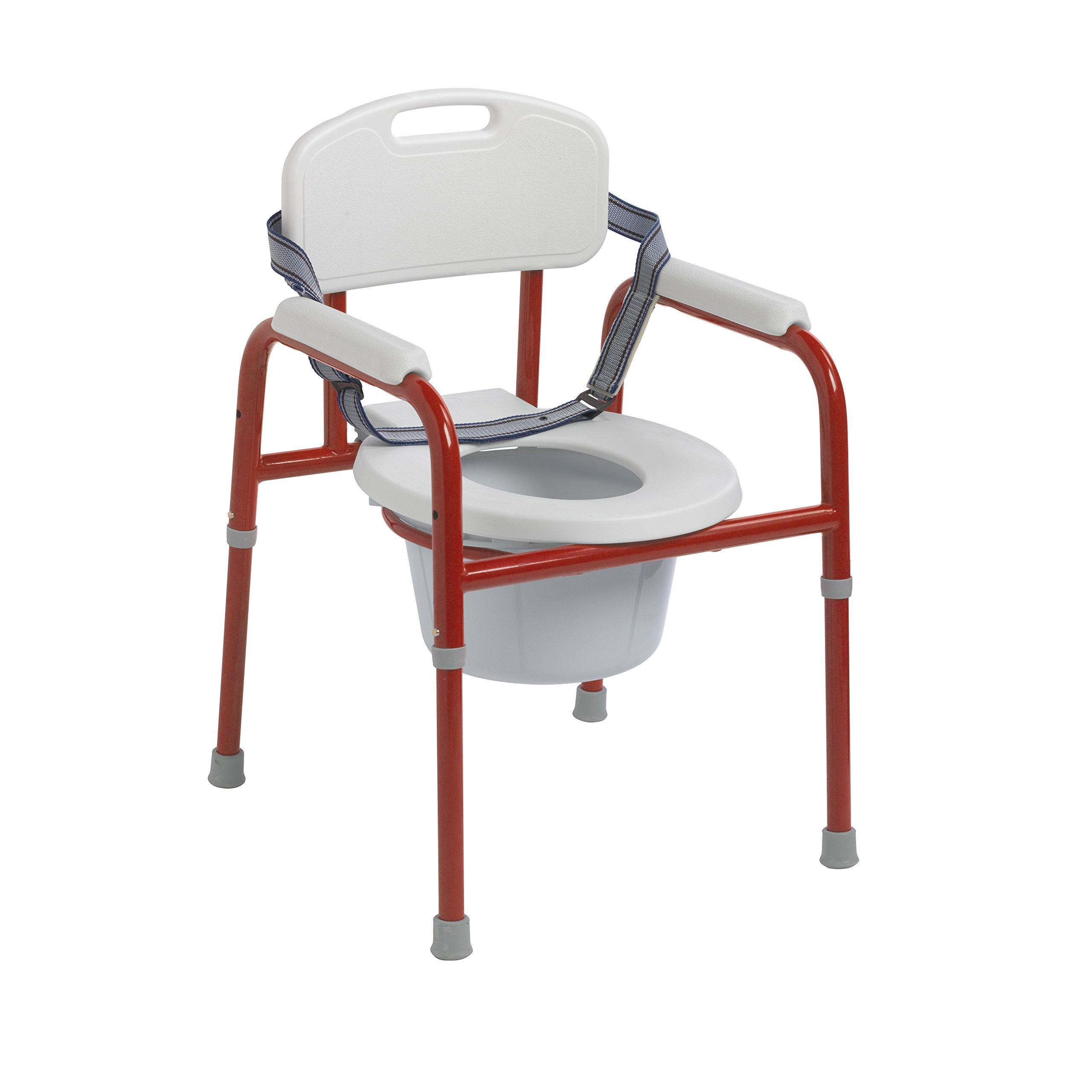 Wenzelite Drive Medical Pinniped Pediatric Commode, Red