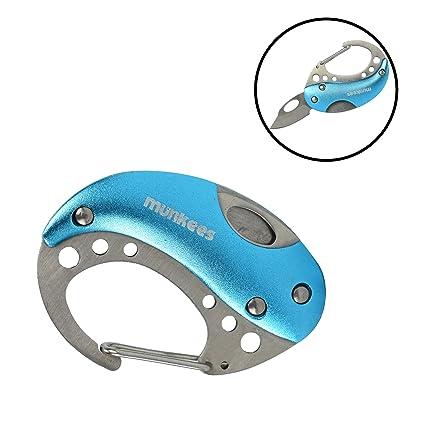 Amazon.com: Munkees Mini mosquetón cuchillo: Sports & Outdoors