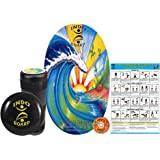 """INDO BOARD Original Training Package Balance Board for Fitness Training and Fun - Comes with 30"""" X 18"""" Deck, 6.5"""" Roller and 14"""" Cushion, 11 Designs"""