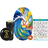 "INDO BOARD Original Training Package Balance Board for Fitness Training and Fun - Comes with 30"" X 18"" Deck, 6.5"" Roller and 14"" Cushion, 11 Designs"