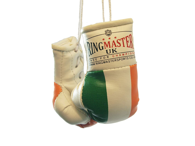 RingMasterUK Mini gants de boxe à suspendre dans la voiture, Jamaica Flag