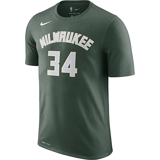 Nike NBA Milwaukee Bucks Giannis Antetokounmpo 2017 2018 Dry N&N Official, Camiseta de Hombre