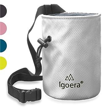 Igoera Magnesera para Escalada y Boulder: la Bolsa Magnesio es de un Material Muy Resistente, Impermeable y con un Sellado Magnesio no Salga del Chalk ...