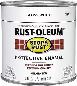Rust Oleum 7792730 Protective Enamel Paint 8 Ounce Gloss White