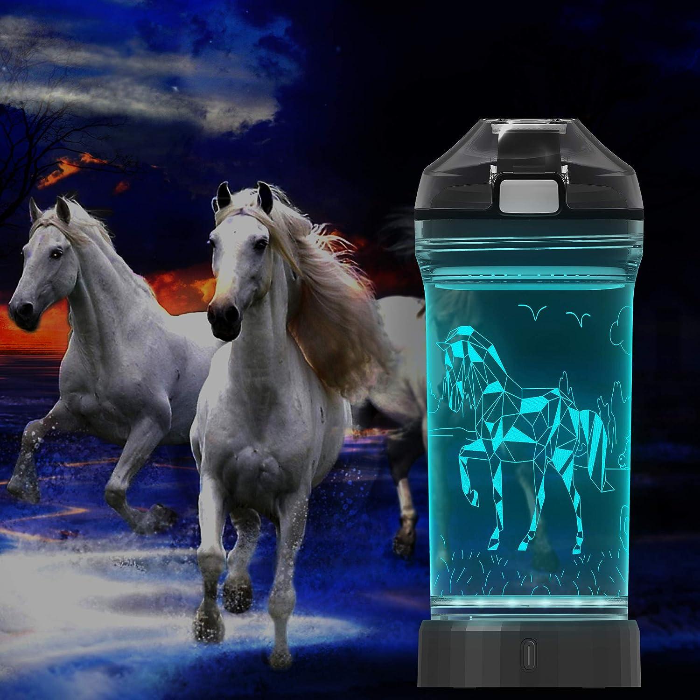 UNICORNS FOAL HORSE BIRTHDAY CHRISTMAS GIFT BOTTLE LAMP LED LIGHT