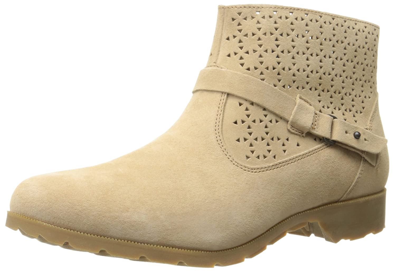 Teva Women's Delavina Ankle Bootie B00ZFMATL8 5 B(M) US|Tan