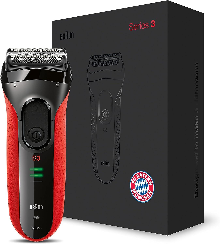 Braun Series 3 ProSkin 3030s Máquina de afeitar de láminas Recortadora Negro, Rojo - Afeitadora (Máquina de afeitar de láminas, Negro, Rojo, AC/Batería, Níquel-metal ...