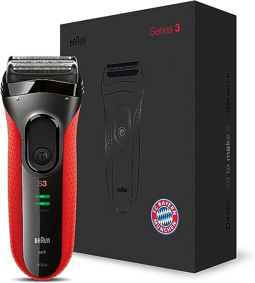 Braun Series 3 ProSkin 3030s Máquina de afeitar de láminas Recortadora Negro, Rojo - Afeitadora (Máquina de afeitar de láminas, Negro, Rojo, AC/ Batería, Níquel-metal ...