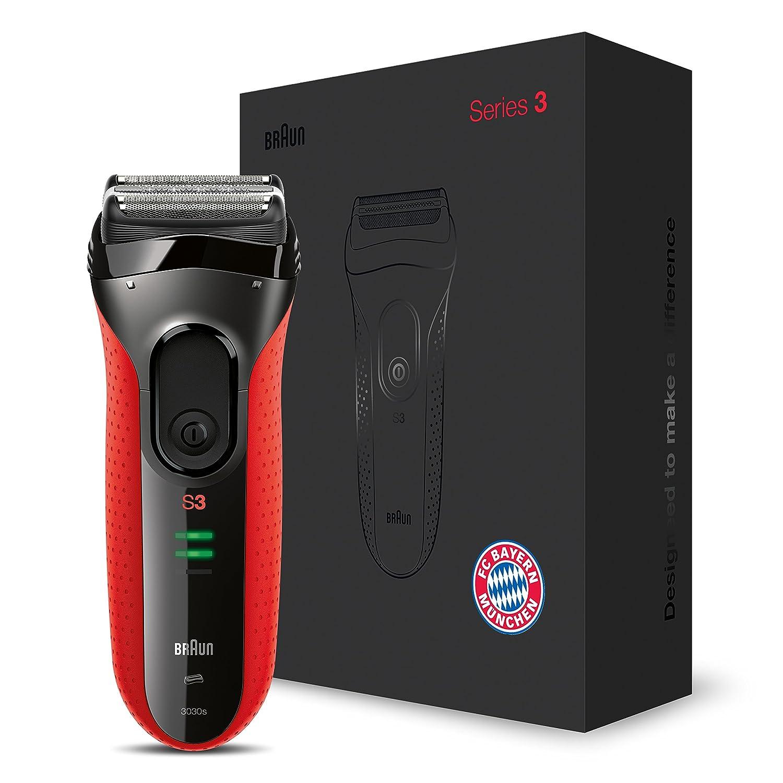 Braun Series 3 ProSkin Elektrorasierer 3030s FC Bayern München Edition, rot Procter & Gamble GmbH 4210201174011
