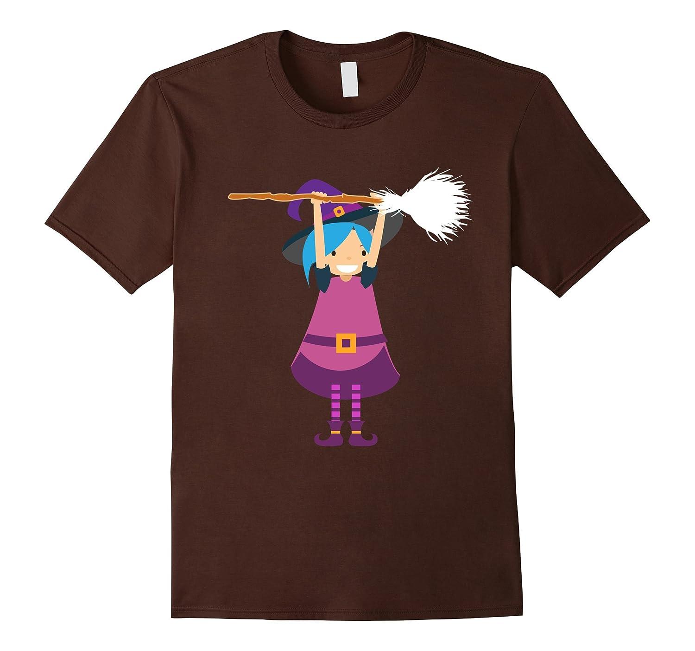 Funny Emoji Witch Halloween T-shirt Cute Girl Women Tee Gift-Art