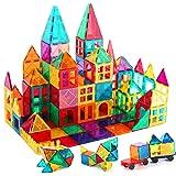 Kids Magnetic Tiles Toys, 100Pcs 3D Magnetic Building Blocks Tiles Set, Building Construction Educational STEM Toys for 3+ Ye