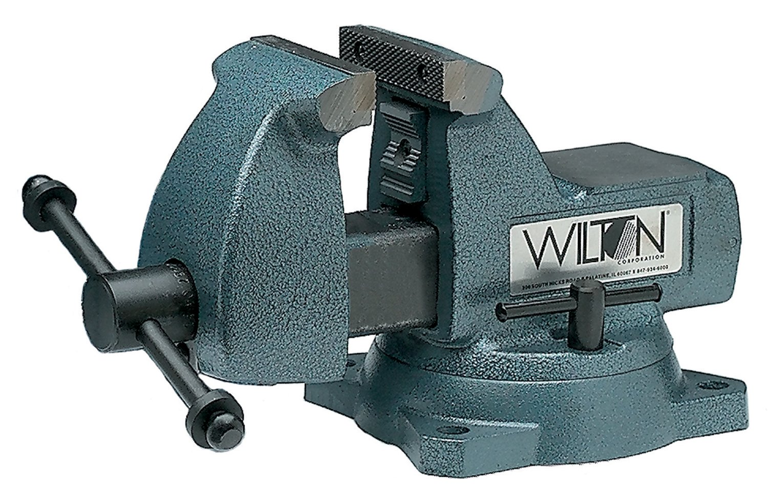 Wilton 21500 Machinists' Vises, 6'' Jaw, 4 1/8'' Throat, Swivel Base by Wilton