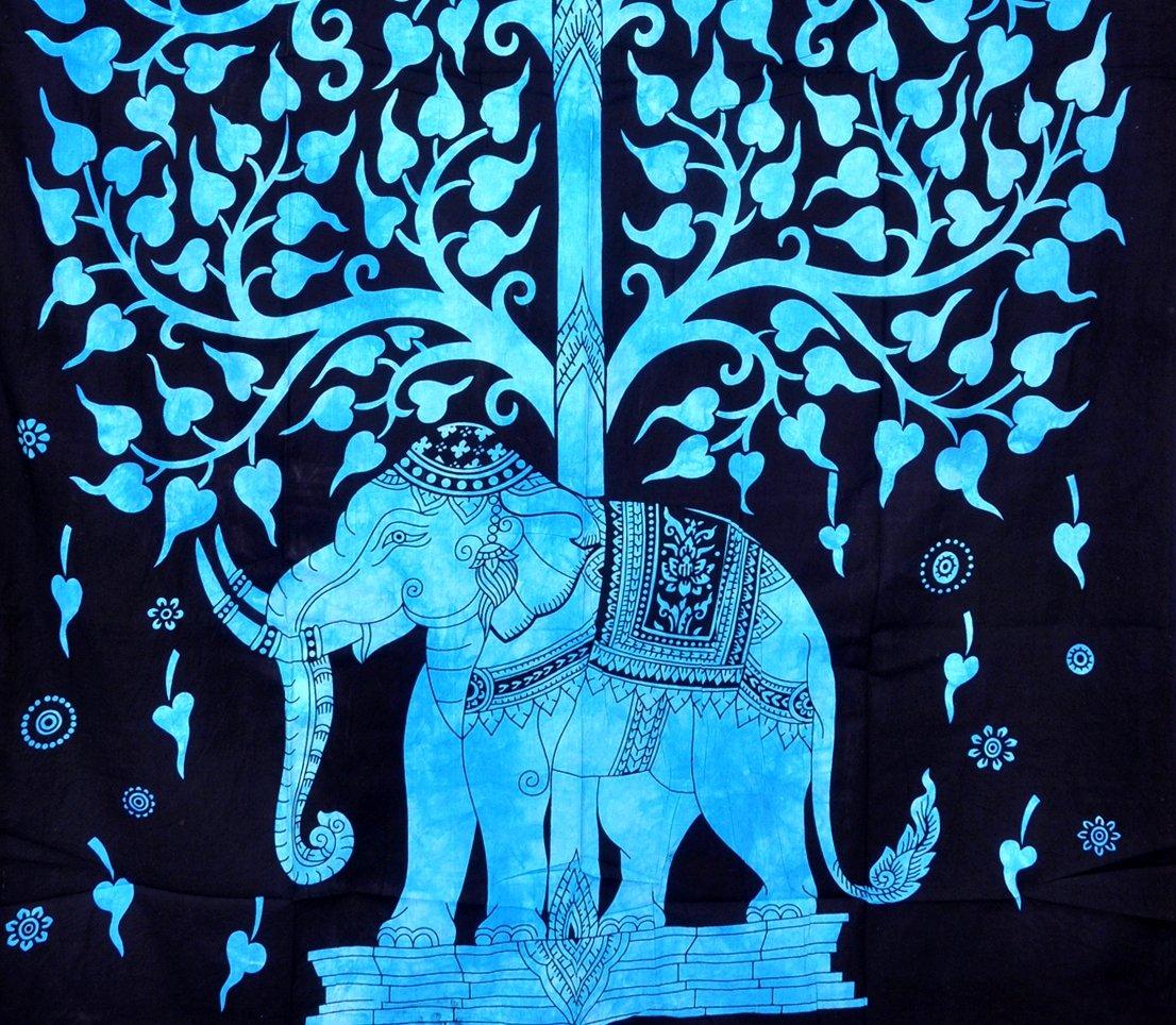 Amazon.com: ModTradIndia-Elephant Under Tree Tapestry, Indian Hippie ...