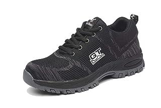 Wasnton Uomo Donna Scarpe Antinfortunistiche Uomo Donna s3 Comodissime Scarpe da Lavoro con Punta in Acciaio Scarpe Sportive di Sicurezza Scarpe da Trekking Sneaker di Sicurezza per Industria Edilizia