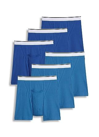 c6aa9f06aad260 Jockey Men's Underwear Pouch Boxer Brief - 6 Pack, Blue Spring/just Blue,