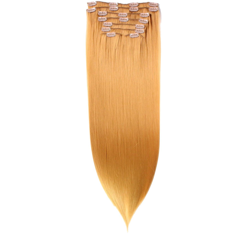 Clip In Extensions, 60cm, 8 teilig - #N-22/613, gewellt - 130g Haarteil Optisch wie Echthaar hair2heart 4260446883759