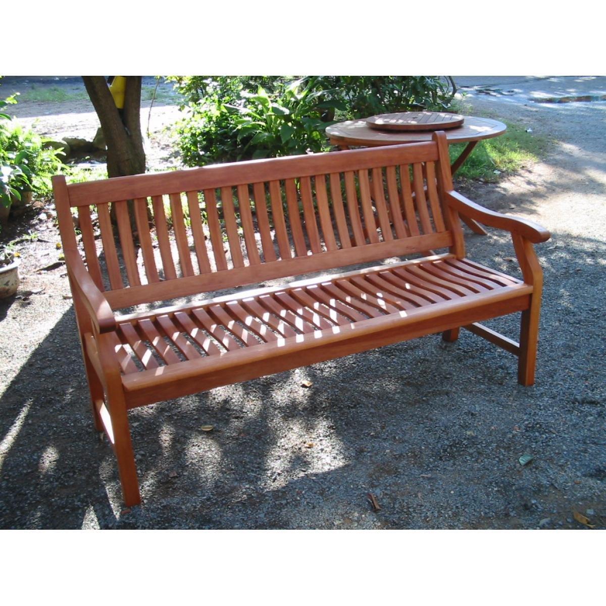 Gartenbank NEW JERSEY, 3-Sitzer, Holzbank aus Hartholz Akazie 100% FSC