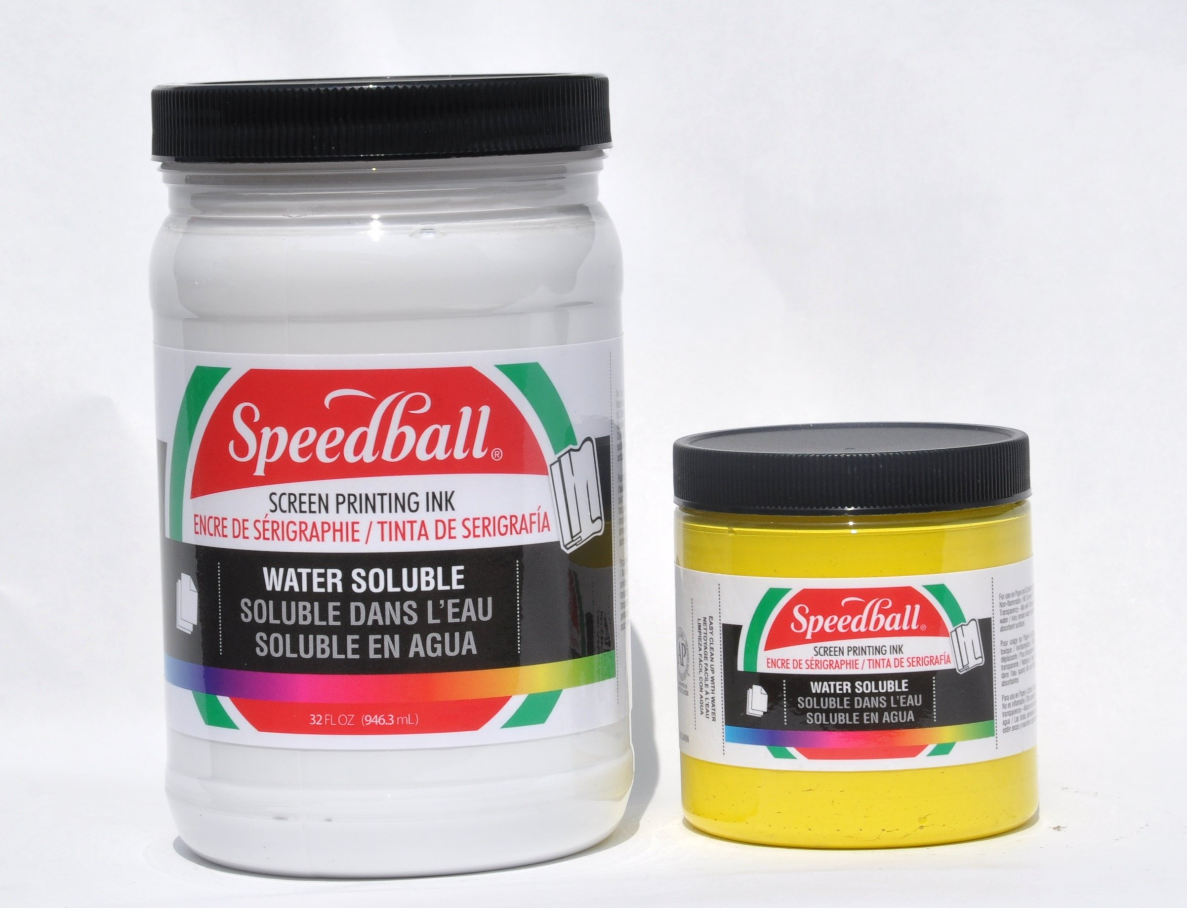 Speedball Non-Toxic Non-Flammable Water Soluble Screen Printing Ink, 1 qt Jar, Black