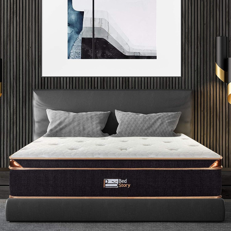 "12/"" Queen Size Cool Medium-Firm Memory Foam Mattress Bed with 2 Free Pillows"
