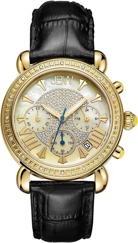 JBW Luxury Women s Victory 0.16 Carat Diamond Wrist Watch with Leather Bracelet