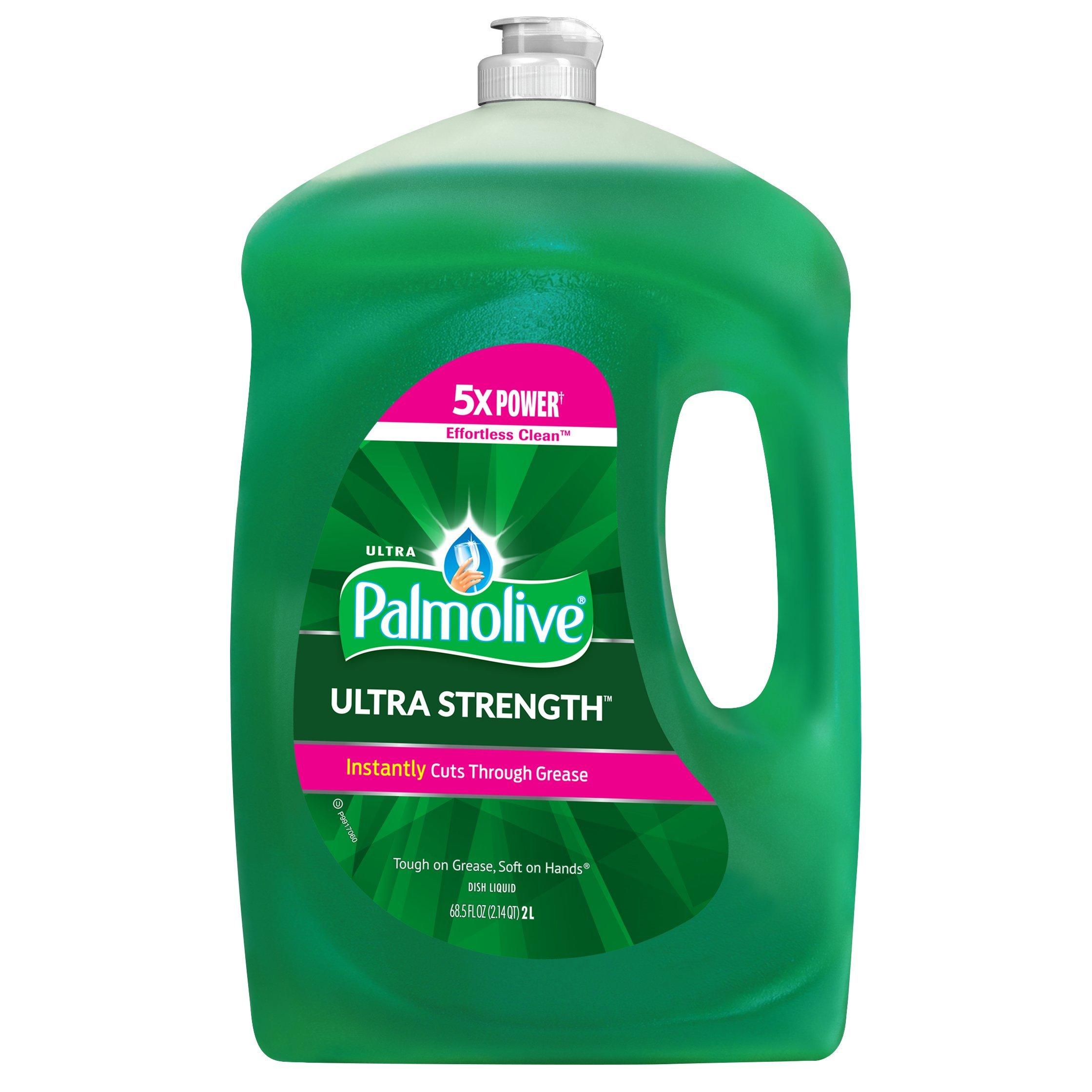 Palmolive Ultra Strength Liquid Dish Soap, Original - 68.5 Fluid Ounce (4 Pack)