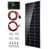 Topsolar Solar Panel Kit 100 Watt 12 Volt Monocrystalline Off Grid System for Homes RV Boat + 20A 12V/24V Solar Charge Contro