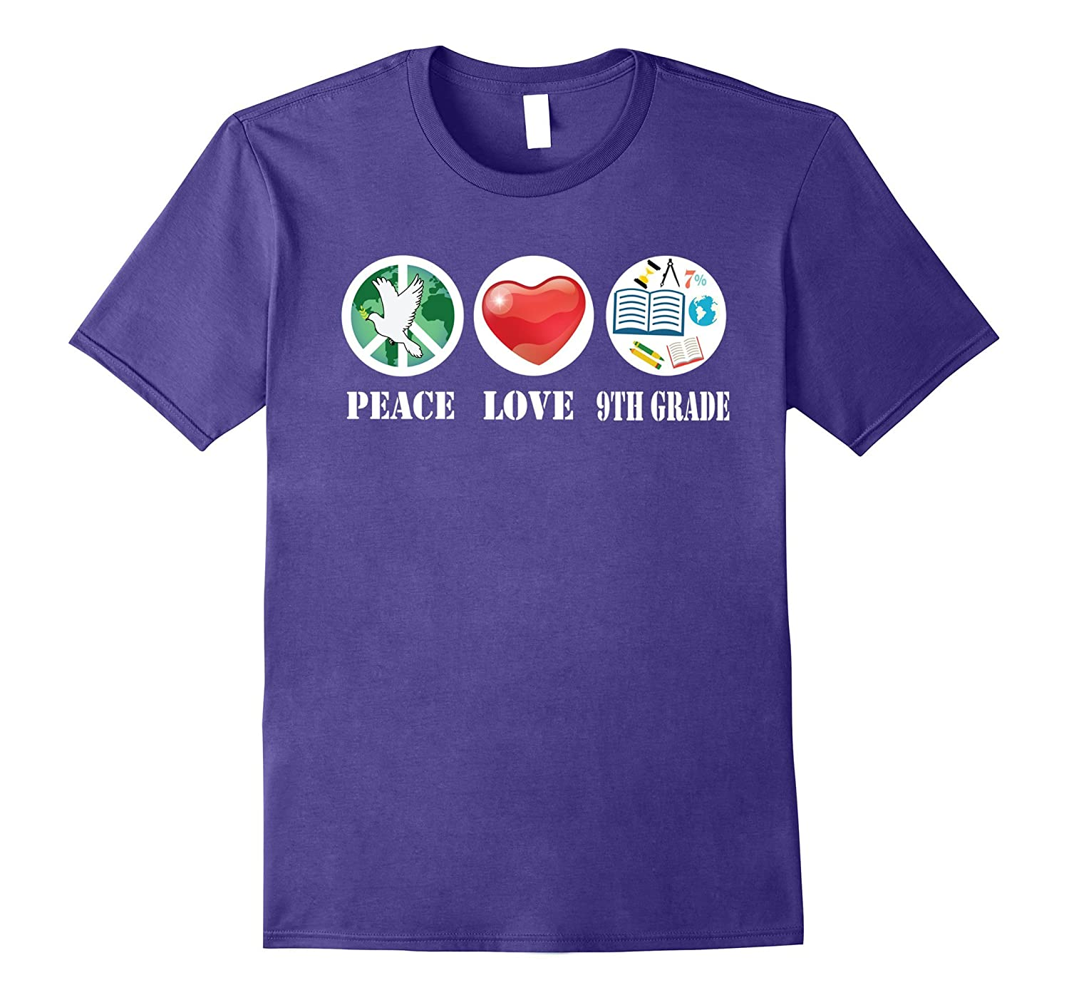 Peace Love 9TH Grade For International Peace Day T-Shirt-CL