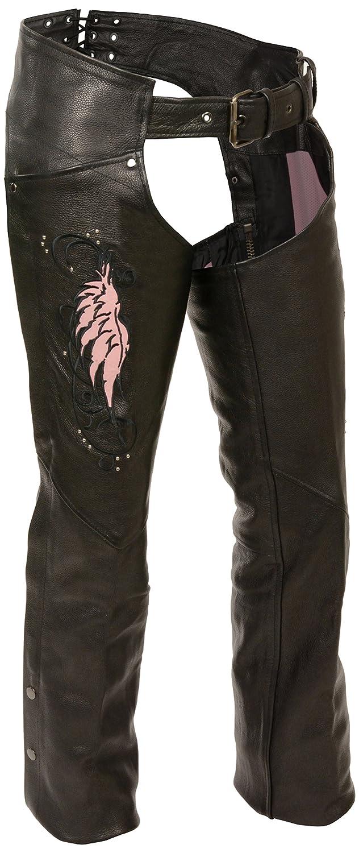 Milwaukee Women's Leather Chaps (Black/Purple, Large) Shaf International Inc. ML1179-BLK/PUR-LG