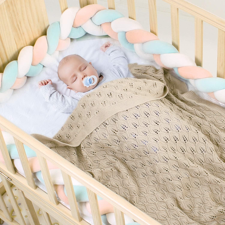 mimixiong 100/% algod/ón tejido manta de para beb/é 80x100 cm Beige